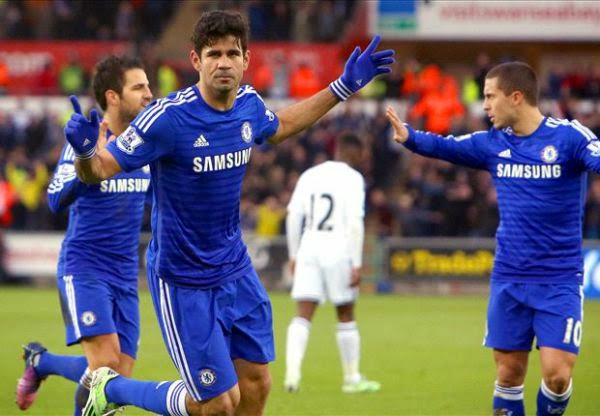 Hasil pertandingan Liga Inggris 2015 Swansea City vs Chelsea 0 5