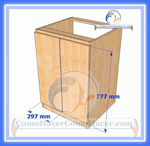 Muebles de cocina construcci n web del bricolaje dise o diy for Planos para fabricar muebles de cocina