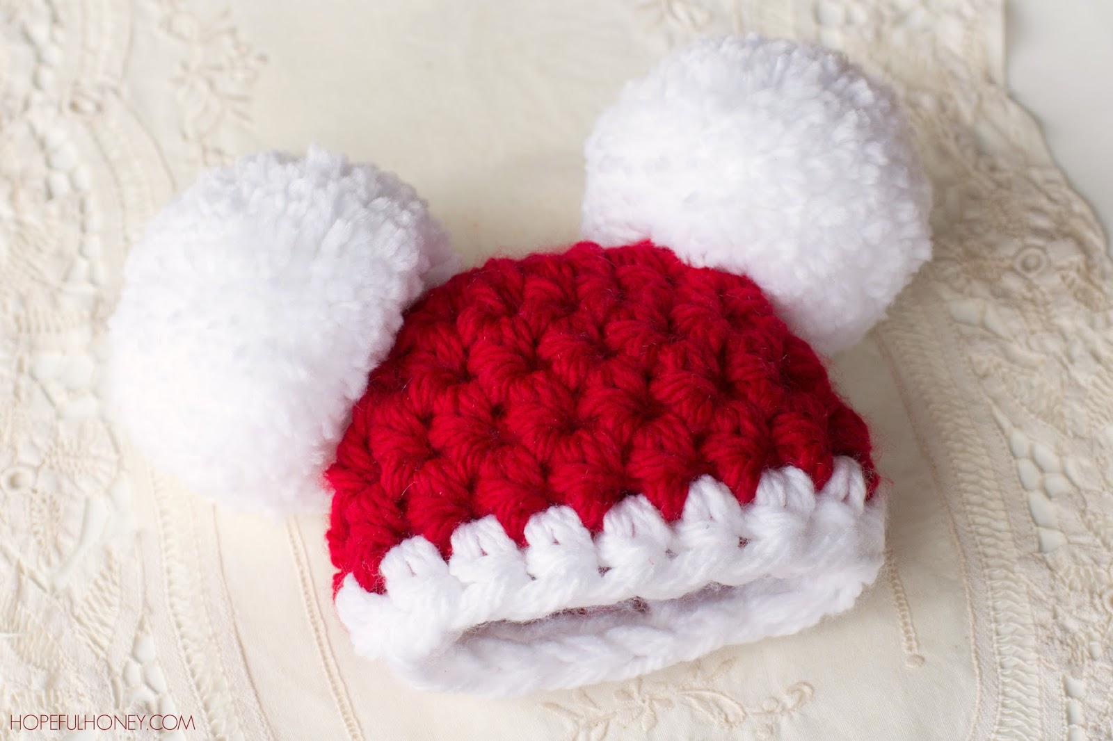 Free Crochet Patterns Using Pom Pom Yarn : Hopeful Honey Craft, Crochet, Create: Baby Santa Claus ...