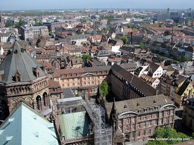 vedere din turnul catedralei din strasbourg