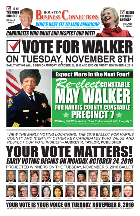 CONSTABLE MAY WALKER VALUES OUR VOTE, SUPPORT AND COMMUNITY