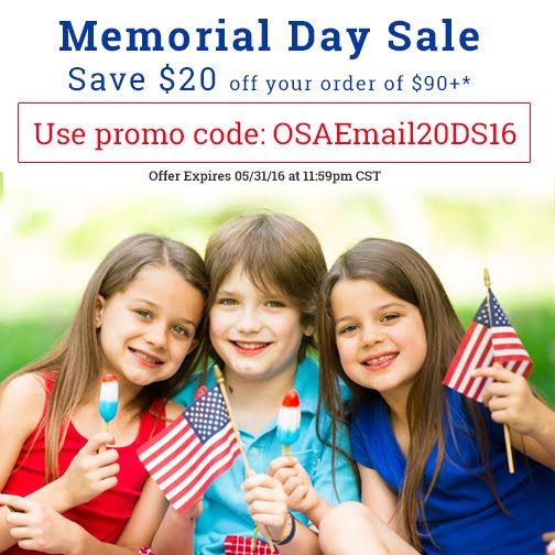 MEMORIAL DAY SALE at ONE STEP AHEAD!