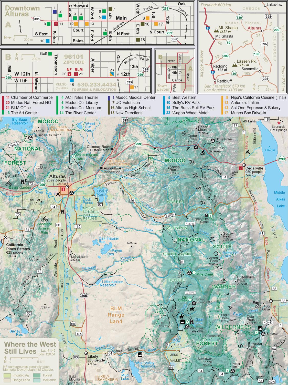 Alturas CA Map
