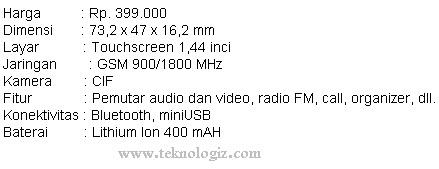 Harga dan spesifikasi Mito S500 - www.teknologiz.com