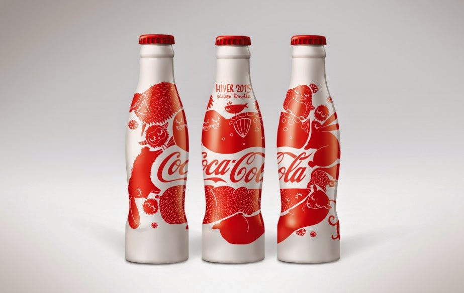 Aluminum bottle collector club coca cola summer winter aluminum bottle - Coca cola edition limitee ...
