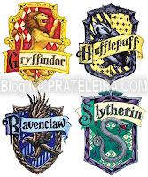 Na prateleira casas de hogwarts x personagens da tv - Harry potter casas ...