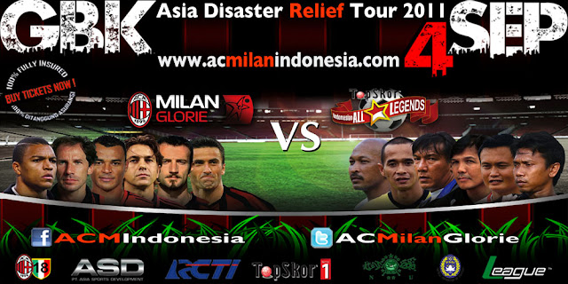 AC Milan Glories vs Indonesia All Star Legends