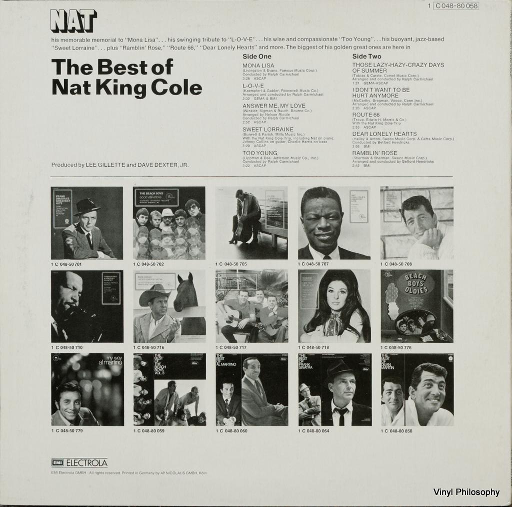 Vinyl Philosophy Vinyl Feature The Best Of Nat King Cole