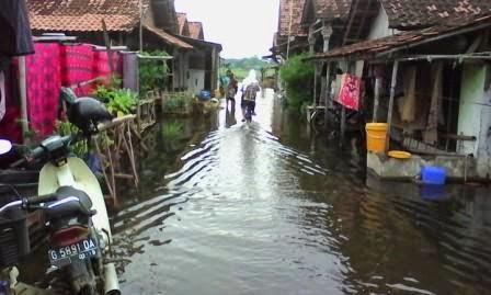 Curah Hujan Tinggi Bercampur Rob, Sumur Warga Tercemar