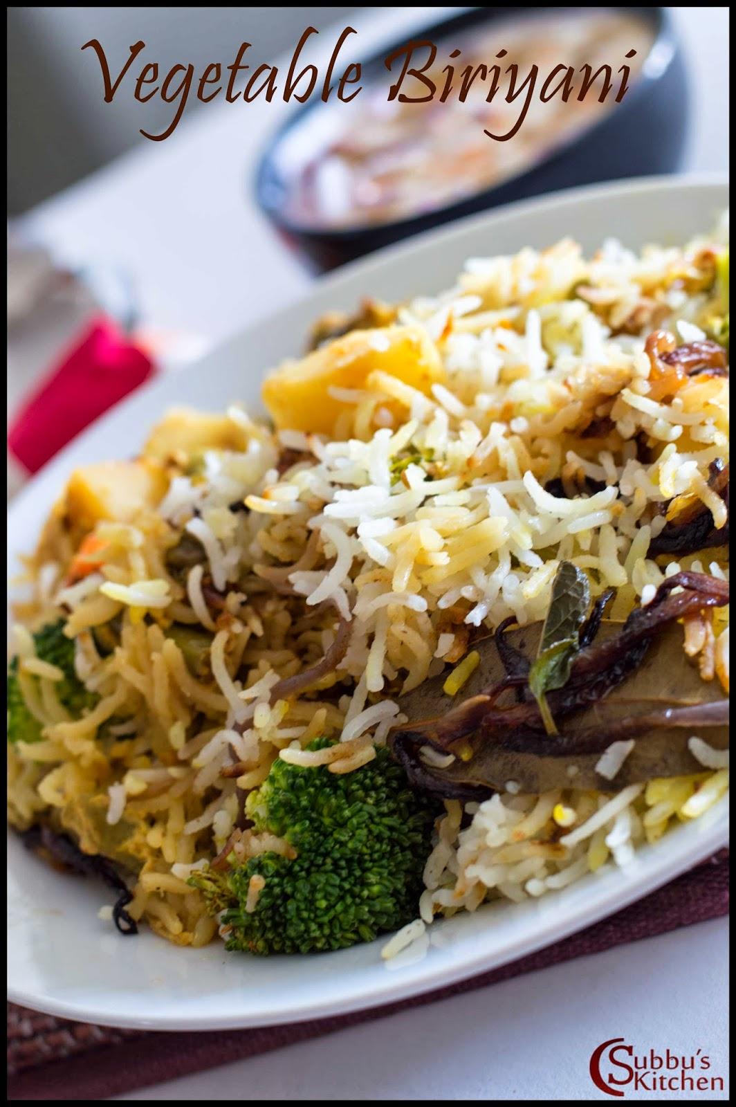 Vegetable Biriyani Recipe | How to make Vegetable Biriyani