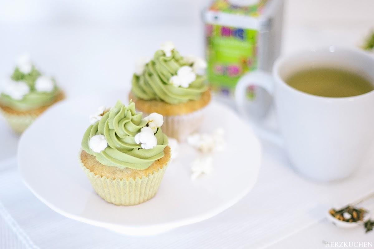 Cupcakes mit Matcha