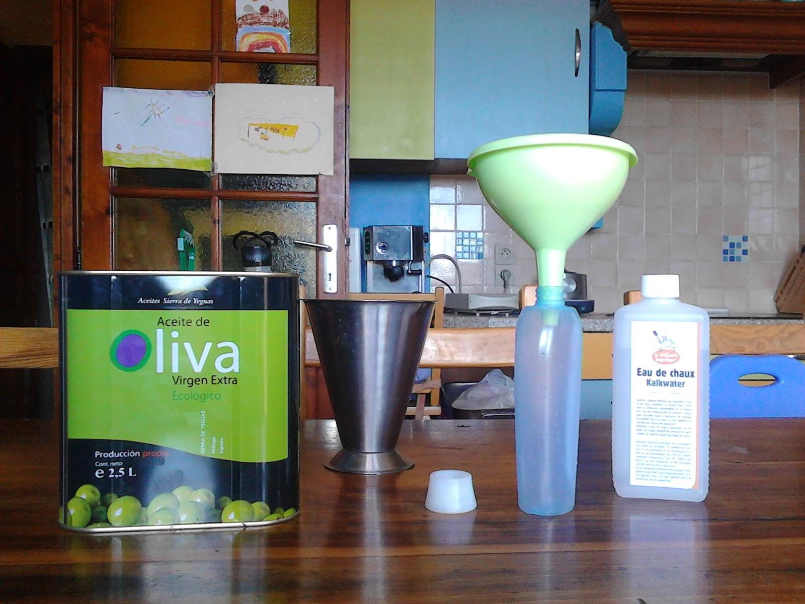 Les ingrédients du liniment oléocalcaire