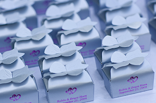 Rows of Wedding Truffle Boxes
