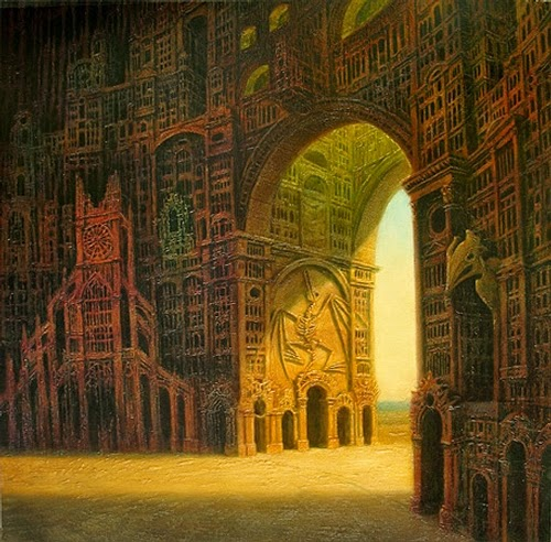 19-Metropolis-Marcin-Kołpanowicz-Painting-Architecture-in-Surreal-Worlds-www-designstack-co