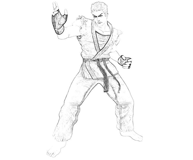 printable-king-of-fighters-ryo-sakazaki-skill-coloring-pages