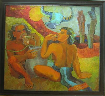 Tác phẩm hội họa về đề tài Tây nguyên 3