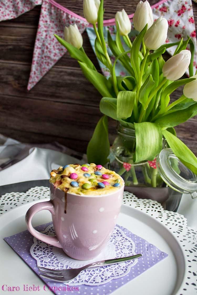 schneller Tassenkuchen mit Smarties