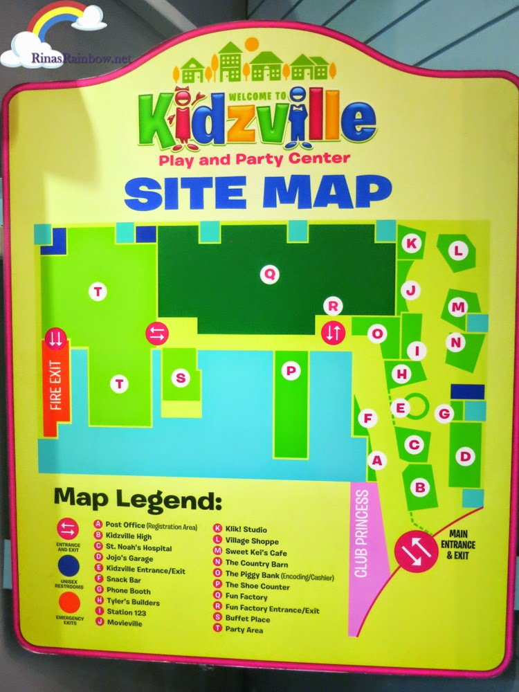 kidzville map
