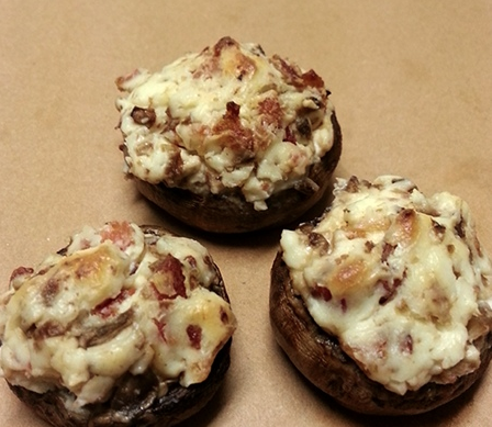 Bacon Cream Cheese Stuffed Mushrooms Recipe