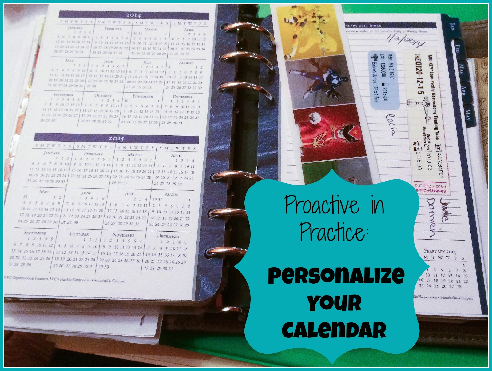 Proactive in Practice Personalize your Calendar