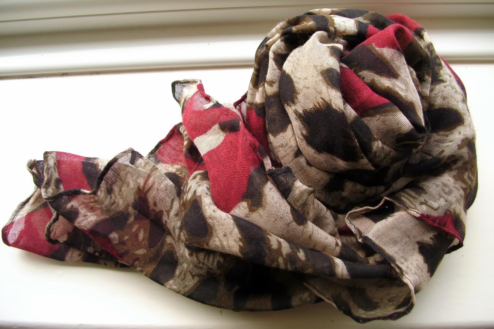 Fashion Elegant Style Leopard Pattern Long Scarf For Women