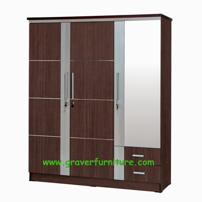 Lemari Pakaian 3 Pintu LP 2998 Graver Furniture