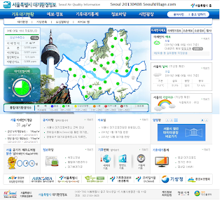 map: air quality in Seoul