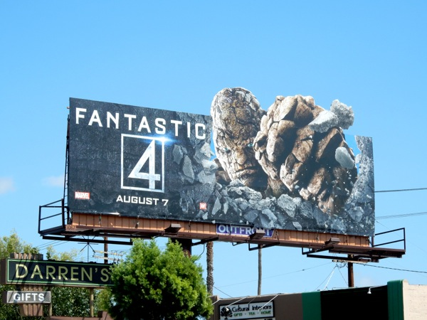Thing Fantastic 4 billboard