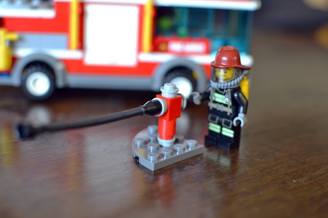LEGO City Fire Truck fighting fires