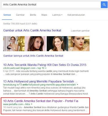 Review Artikel Yang terindeks di halaman Pertama Google