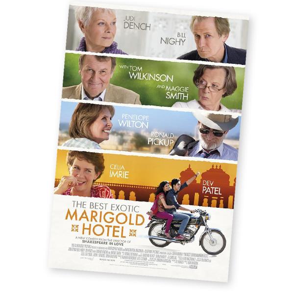 cartel El exótico hotel Marigold