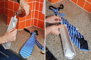 اختراعات مضحكة - ربطة عنق تمنع العطش