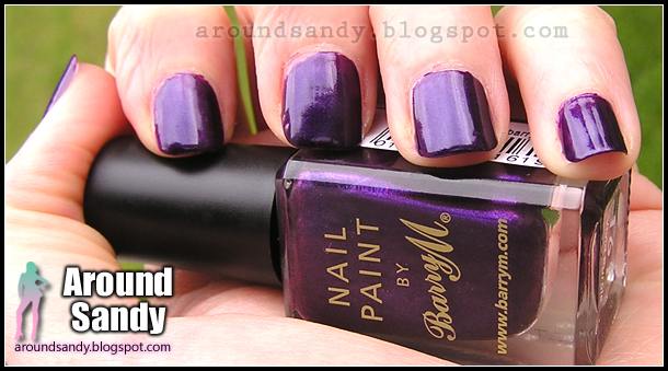 Barry M 161 Vivid purple Nail Paint swatches review donde comprar opinión