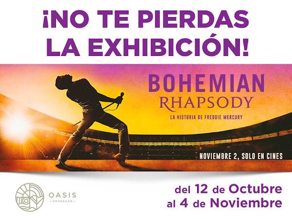 """Exhibición vestuario y fotos del filme """"Bohemian Rhapsody"""" Oasis Coyoacán 12 Oct al 4 Nov CdMx"""