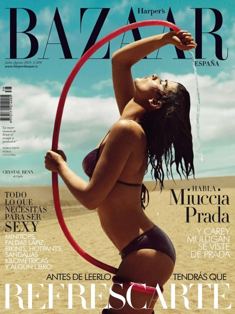 Crystal Renn Harper's Bazaar Spain Cover