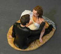 cake topper personalizzato statuine realistiche sposi conchiglie bouquet orme magiche