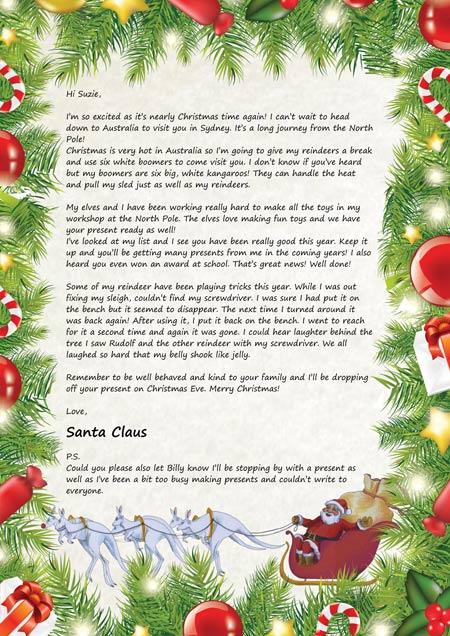 Santa claus letters, letters for santa claus, Santa claus letter for ...