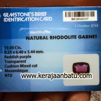 Batu Permata Garnet Rhodolite