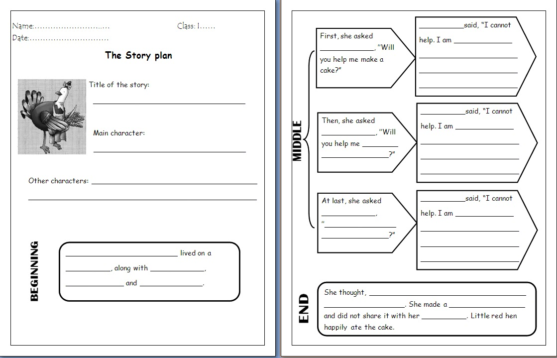 Teachingisfun: Comprehension worksheet for LITTLE RED HEN