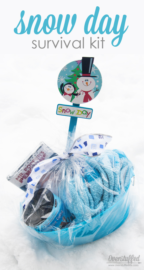 Make a snow day survival kit for your kids this winter--you never know when a snow day will hit. Be ready!