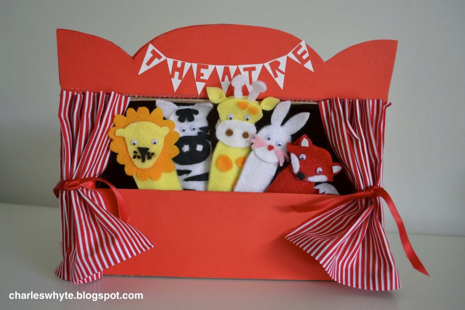 charles whyte: gifts for a newborn: diy felt finger puppets and theatre