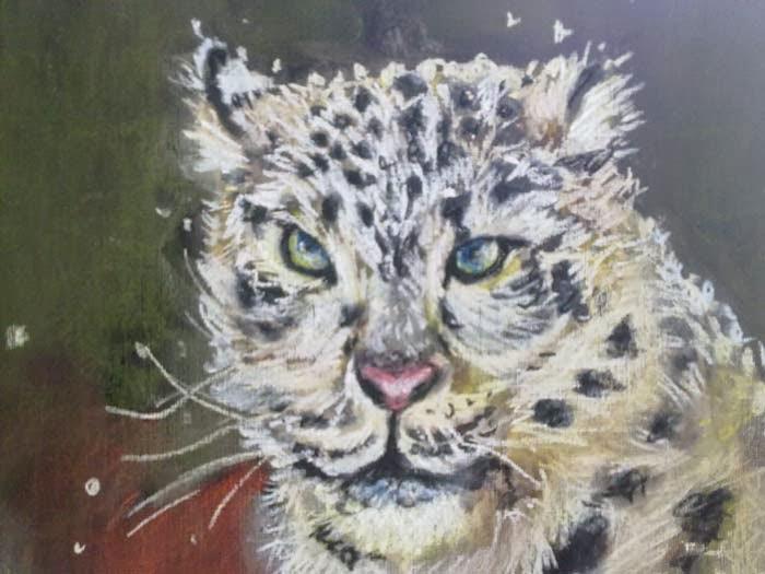 copia de una foto de un tigre de las nieves