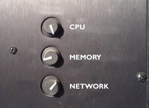 Tuning knobs for CPU, Memory, Network.