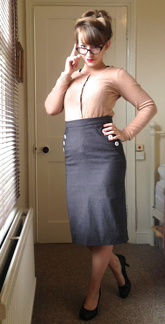 50s pencil skirt officewear