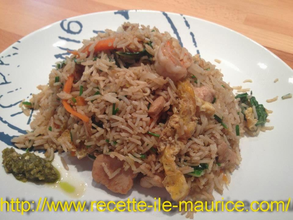 Riz frit recette de cuisine de l 39 ile maurice cuisine for Creole mauricien