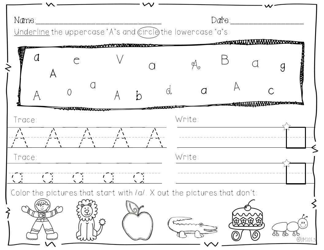 They will also practice tracing and writing each upper and lower case ...