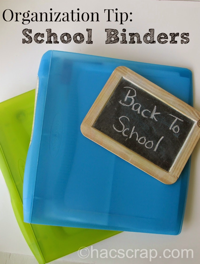 Back-to-School Organization - School Binders
