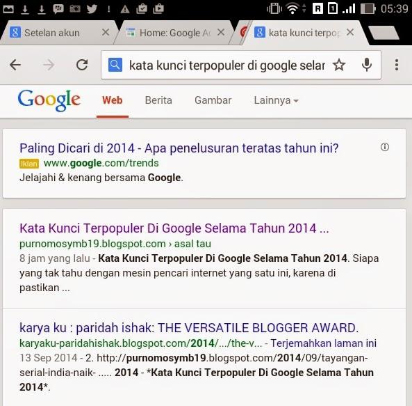Kata Kunci Terpopuler Di Google Selama Tahun 2014