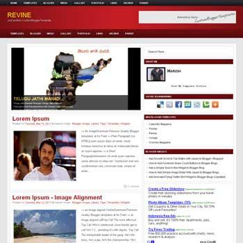 Revine blog template. template image slider blog. magazine blogger template style. wordpress them to blogger template