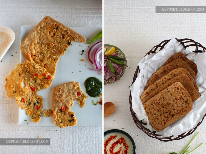 Spusht | Cabbage (Gobi) Paneer Paratha